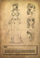 Comic girl desing by Pablocomics