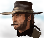 Sketch - Clint Eastwood by sergio-garcia