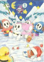 Yoshi building a Snow-Shuy Guy by Myaco