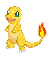 Shiny Charmander - #004 by RandomDrawerOfArt