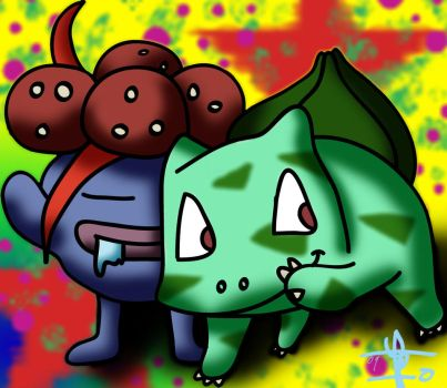 Gloom and Bulbasaur by Reisach