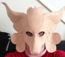Fenrir from FF9 leather mask - WIP by Masktastic