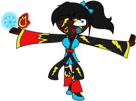 Electric Icicle Fire Master Girl by arrienne408