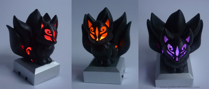 SOLD - 3D print Chibi Kitsune BLACK ver. by goiku