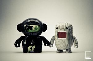 Domo and Spaceman Desaturated by ryanwell