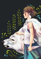Princess Mononoke by Sangcoon