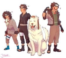 Kiba's different ages/designs by Jazzie560