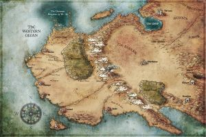 Myth world map by JAGO-DAKARI