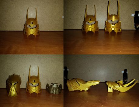 Ignika (Bionicle Heroes Style) in pearl gold by Ultimo10