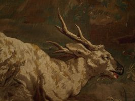 Goat Tapestry Section by Debellos