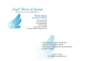 Angel House of Georgia Business Card by JPasquarelli