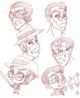 TF2 medic and sniper doodles by selene-nightmare69