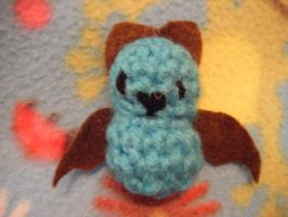 Crochet bat charm by minecraftfox
