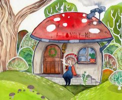 mushroom home by a-lonely-me