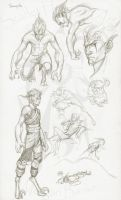 Character drawing challenge 1 -Sample- by Scarlet-Harlequin-N