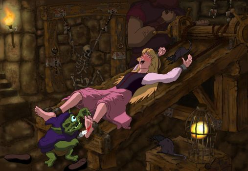 Princess Eilonwy Tickled In The Dungeon by taxwaxus