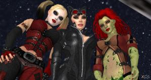 The Gotham City Sirens III by cablex452