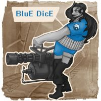 BluE DicE TF2 Spray by RedPaints