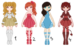 Adoptables: batch 1 by Lulle313