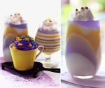 Cupcake and Pastel-colored Jello by theresahelmer