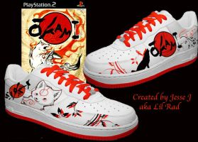 Custom Okami shoes I designed. by LilRad