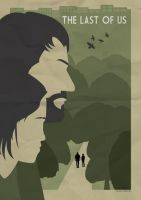 The Last of us Art deco styled poster by CameronGillum