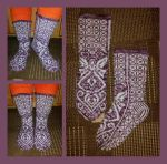 Advent Angel fair-isle socks by KnitLizzy
