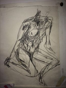 quick sketch nude study 2017 by CharaSweetCheeks