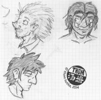Archipelago Headshot Sketches by NyQuilDreamer