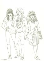 Rox, Dom and Rose by charmontez