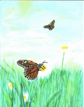 For Mom: Monarch Butterflies by hilbert-space-cadet