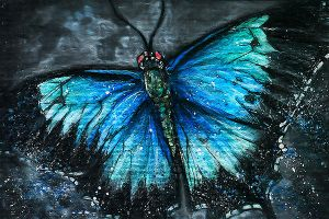 AceofursXchange - Blue Splashed Butterfly by WhiteSpiritWolf