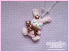 Bunny chocolate king necklace by Irudisu