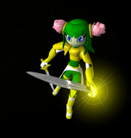 Cosmo: Cavaliere of leaf-sword by Black-Arg