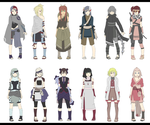 Naruto Oc Adoptables hunter nin/ rouges. repriced by zombie-adoptables