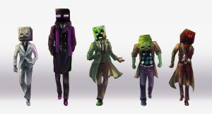 Mobs of Minecraft by SleepyClouds