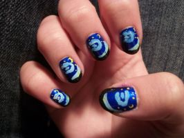 Starry Night Nails by QueenAliceOfAwesome