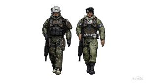 Concept art for two Troopers by CaptainRex42