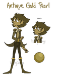 (CLOSED) Antique Gold Pearl Gem Adopt Auction #11 by IcebergCabbage