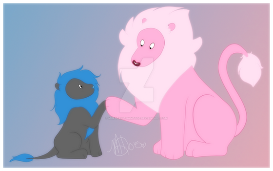 Lion and Tucker by MurderWithAMoose