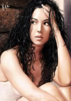 Monica Bellucci -portrait- by Keitaro333