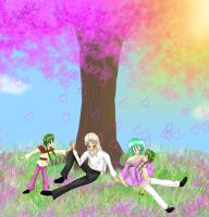 Hourei, Tano and their girls by TheReza13