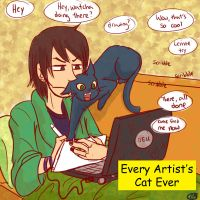 Every Artist's Cat Ever by MuffinMoip