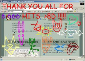 Thanks for 6,666 HITS 8D by MAGAngel