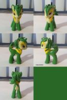 Snivy Ponymon by ChibiSilverWings