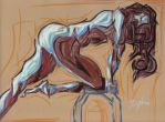 Stool Nude by Seven-Fourteen