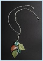Gemstone Leaf Dangle by livegroban