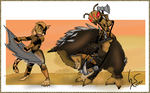 The duel: Gladiators from the Sands -FINAL by Numbsoul