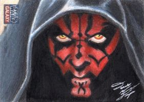 Star Wars G7 - Darth Maul Sketch Art Card by DenaeFrazierStudios