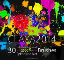 30 HQ Pro Splatter Brushes for Photoshop by EldarZakirov